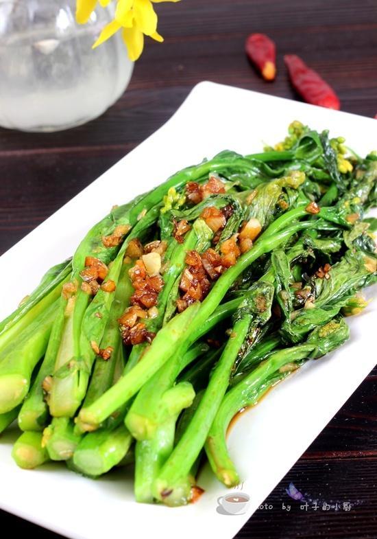 菜心的做法,菜心这样做超好吃--清肠、减肥、做法超简单