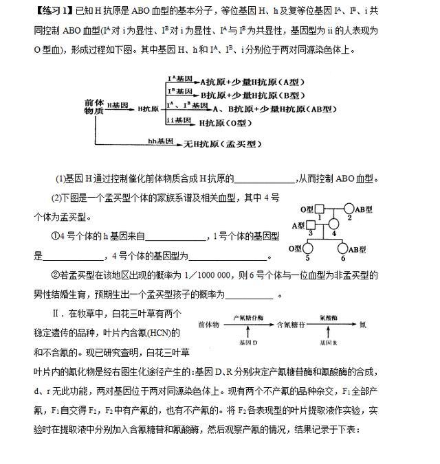 高中生物压轴题解析(可打印)主观题超重要!快来挑战吧