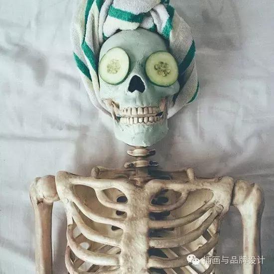 """骷髅头图片,尼玛!""""骷髅人""""生活照走红,装束另类骨感思密达"""