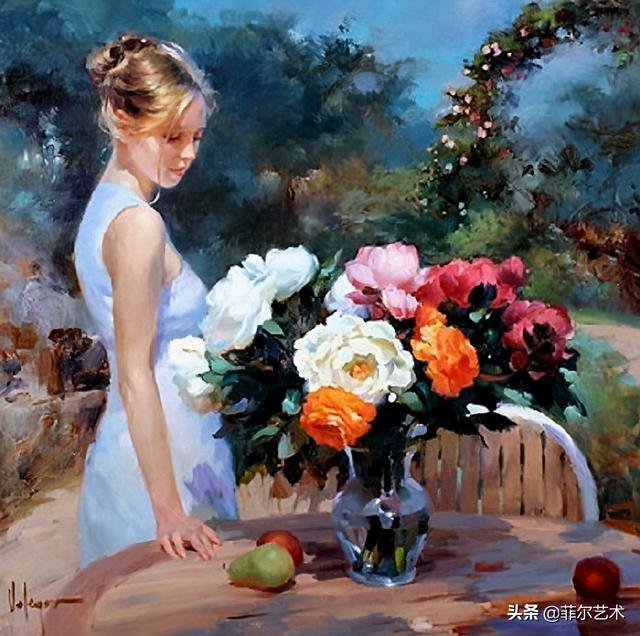 美女人体艺术图片,俄罗斯画家人体油画中的美女娇艳如花,沉鱼落雁