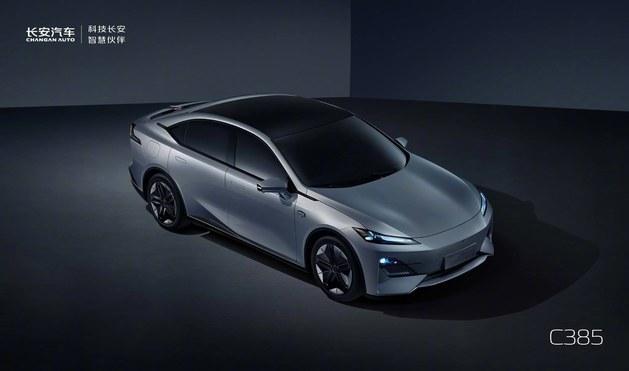 长安全新紧凑级轿车C385官图发布,外观设计未来感拉满