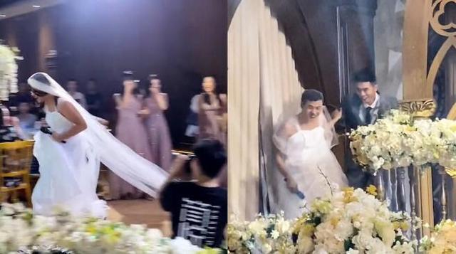 姐姐婚礼弟弟拉横幅庆祝,镜头拉进一看笑疯了网游 全球新闻风头榜 第3张