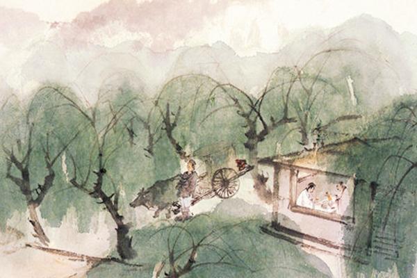写王维的诗,王维仕途失意隐居辋川,写下一首田园诗,被誉为唐诗七律压卷之作