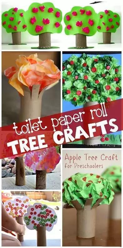 树怎么做,带孩子植树,6款手工树,适合幼儿园手工,手工课作业,附教程