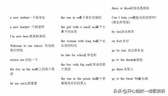 小学英语短语认读练习,小学英语短语总结第一篇
