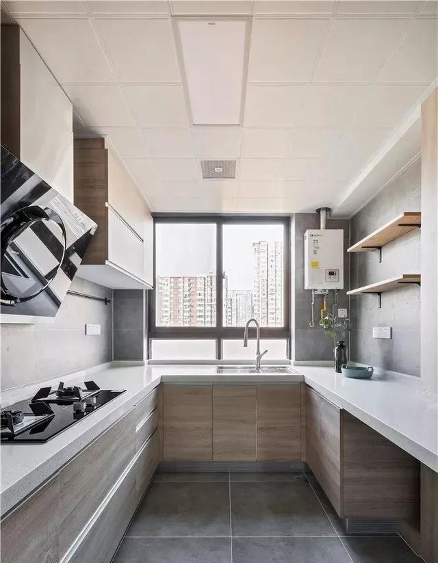 厨卫装修效果,厨房这样装好看又实用,再也不担心难清洁了