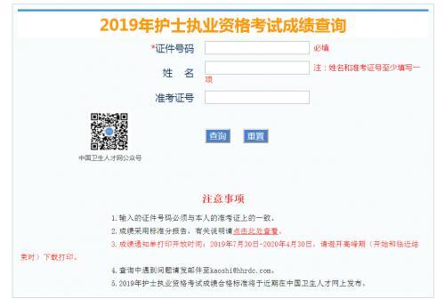 护士成绩查询,中国卫生人才网护士执业资格考试成绩查询 2019护考分数查询入口