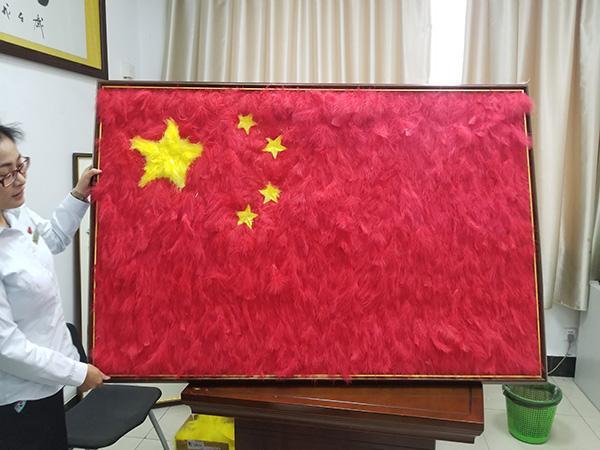羽毛的寓意,江苏一动物园用鸟类羽毛拼成五星红旗:象征祖国的温暖
