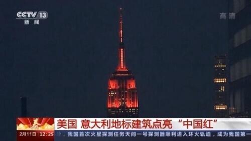 """外国节日,外国地标建筑点亮""""中国红""""米兰市长:中国新年是全米兰共同的节日"""