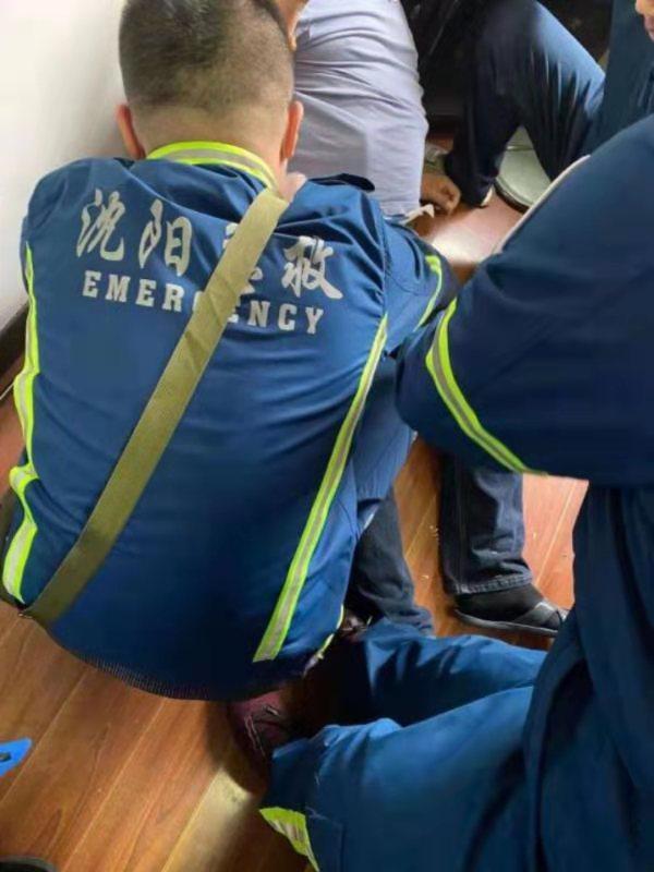 沈阳急救站皇姑中心收到120指挥调度系统管理中心下达抢救命令