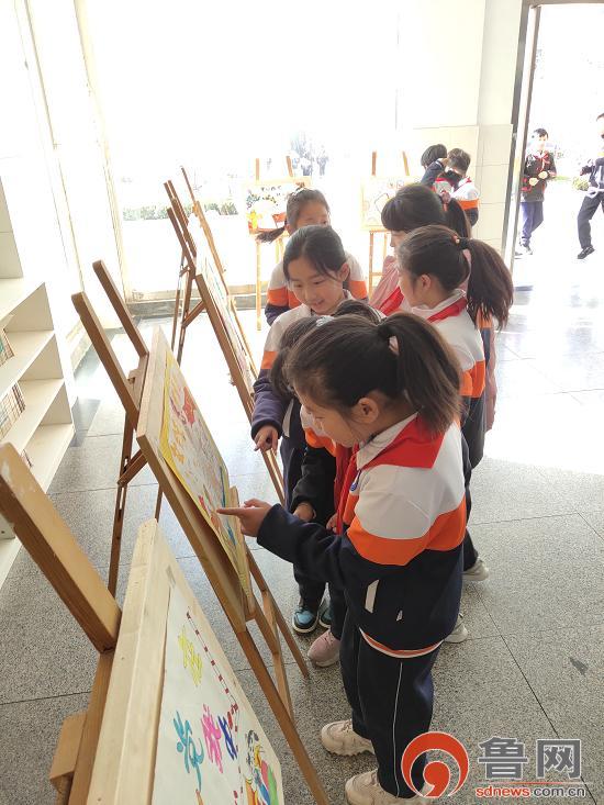 小学生手抄报,临沂工业园学校举办手抄报展评活动