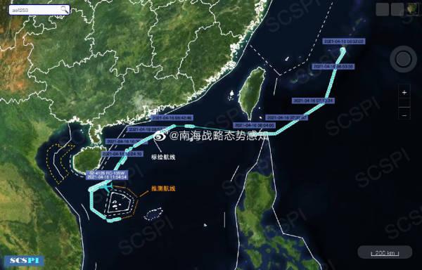 美空军RC-135W正沿广东和海南岛海岸进行抵近侦察 全球新闻风头榜 第2张