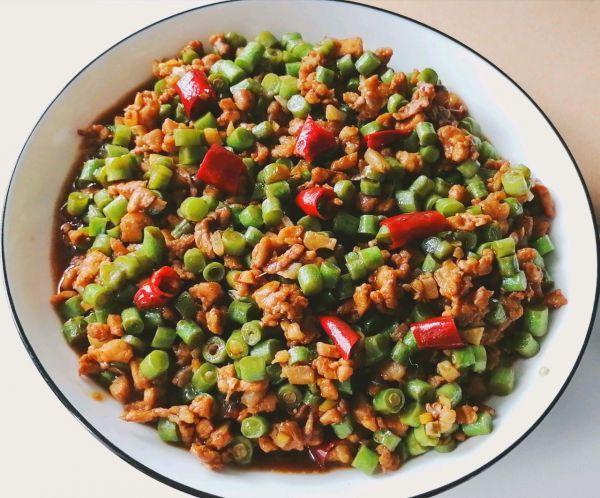 菜豆的做法,肉末豆角超简单的家常菜,拌米饭能吃三碗,巨好吃