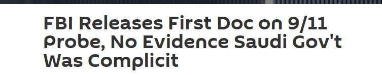 FBI公布首份9·11调查文件:无证据证明沙特政府参与恐袭 全球新闻风头榜 第2张