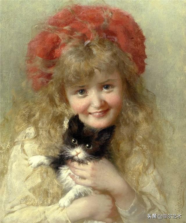 名人的肖像,英国画家George Elgar Hicks - 肖像油画作品欣赏
