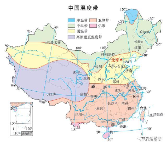 中国地图图片,高清地图‖中国南北差异