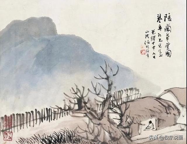 姓任的名人,海上画派杰出代表任颐,继承古法融合中西,却受鸦片之害过早离世