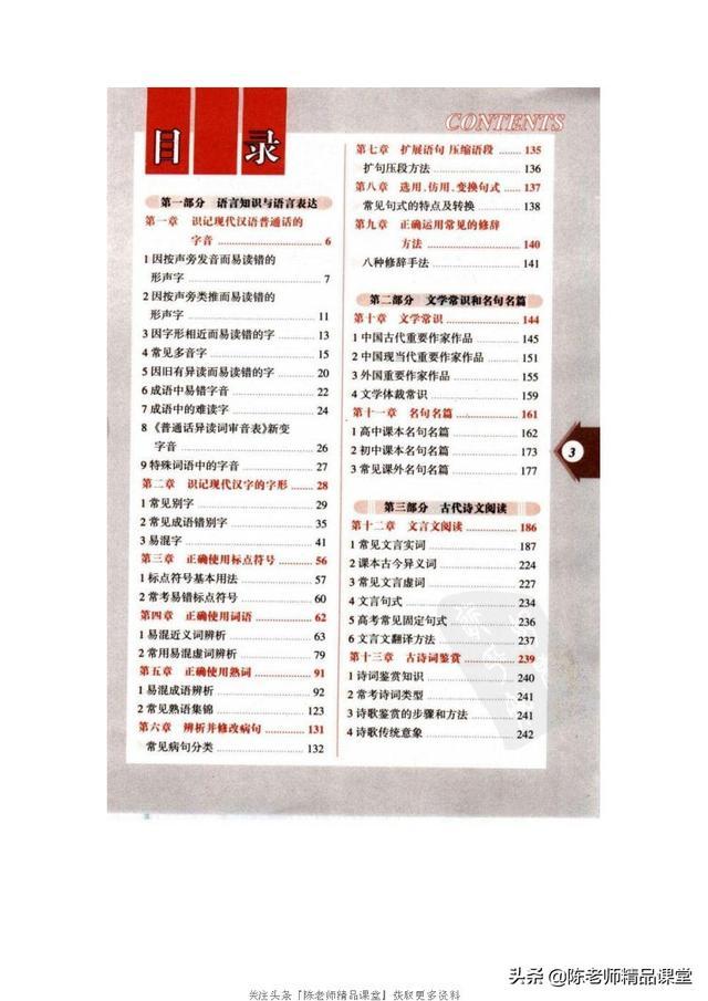 253页pdf|高中语文知识全表