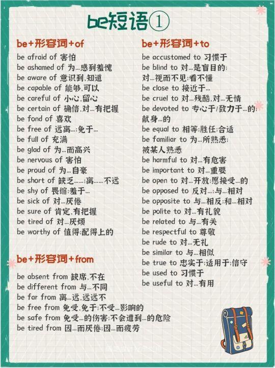 中学英语词汇分类汇总