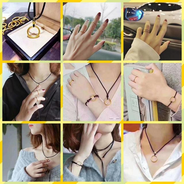 素圈戒指图片,四种戴法的仙女金戒指,砍价只要199!来不及解释了快上车!