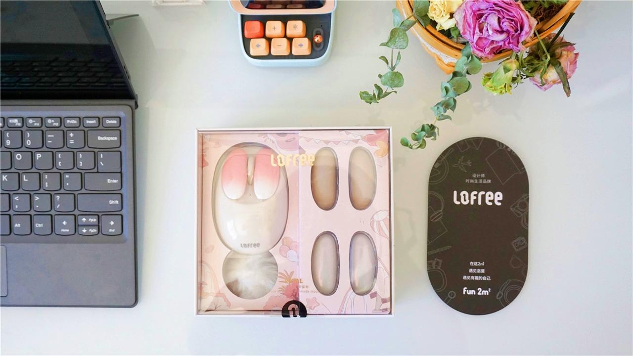 Lofree洛斐小瓣鼠标:美甲换片,打造女性个性化专属好物