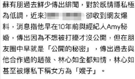 哥哥还是未婚!苏有朋工作室辟谣隐婚传闻:吃假瓜不如吃粽子