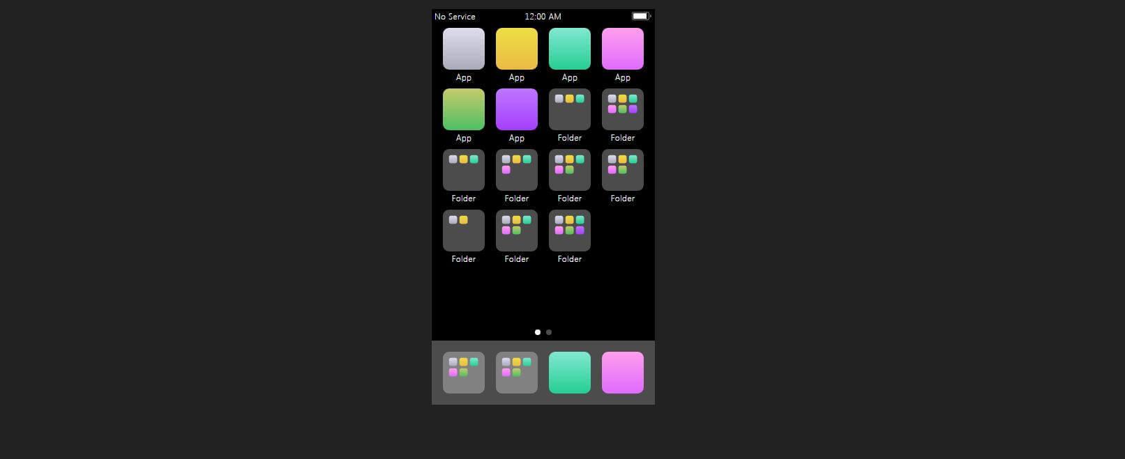 CSS iPhone界面