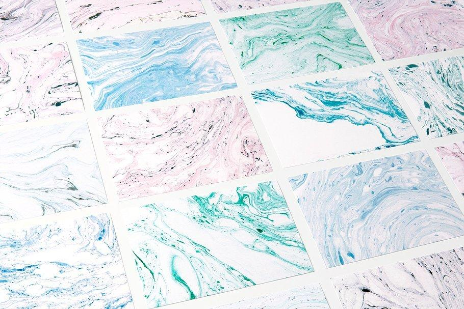 平面素材-90张高清大理石背景纹理素材 Marble Paper Textures(9)