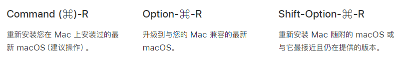 Macbook Air 苹果支持 macOS重装