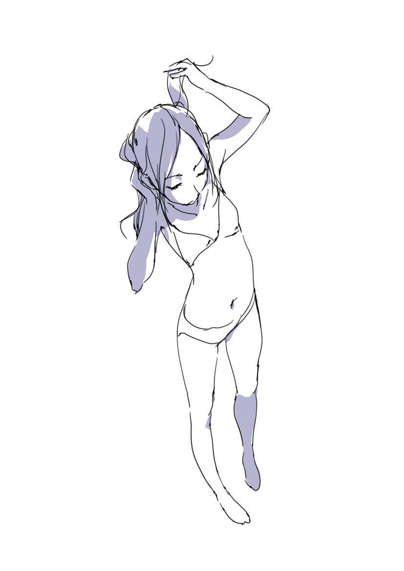 原画插画-日本 人体基础-姿势及体块表现分析 光影参考 412P(8)