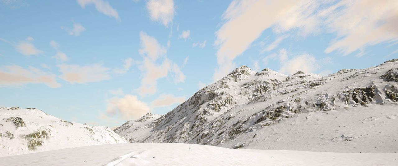 Houdini雪山项目文件 Houdini Snow Mountains - Patreon - Saul Espinosa