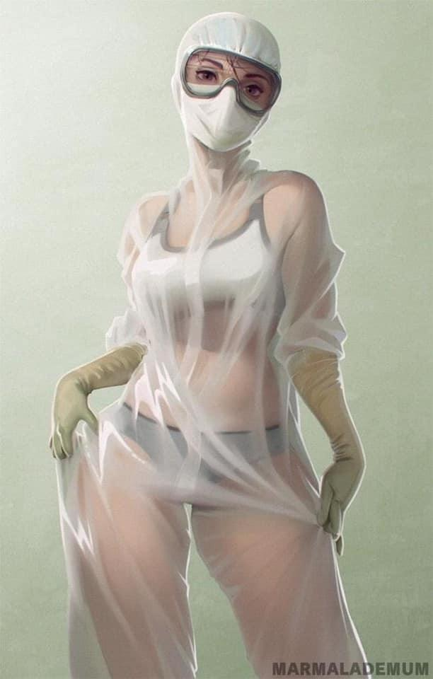 俄罗斯 护士 护理服 比基尼