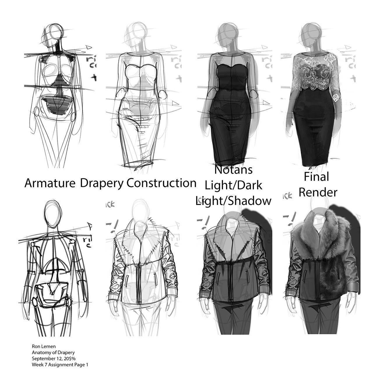 Anatomy Of Clothing 2019 by Ron Lemen 服装绘画解剖教程