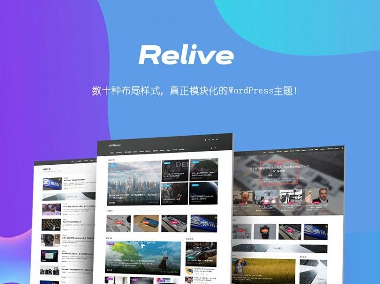 Relive 3.1自媒体博客主题wordpress模板