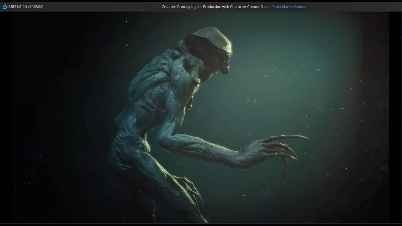 Creature Prototyping for Production with Character Creator 3 by Pablo Muñoz Gomez 三维生物模型制作教程