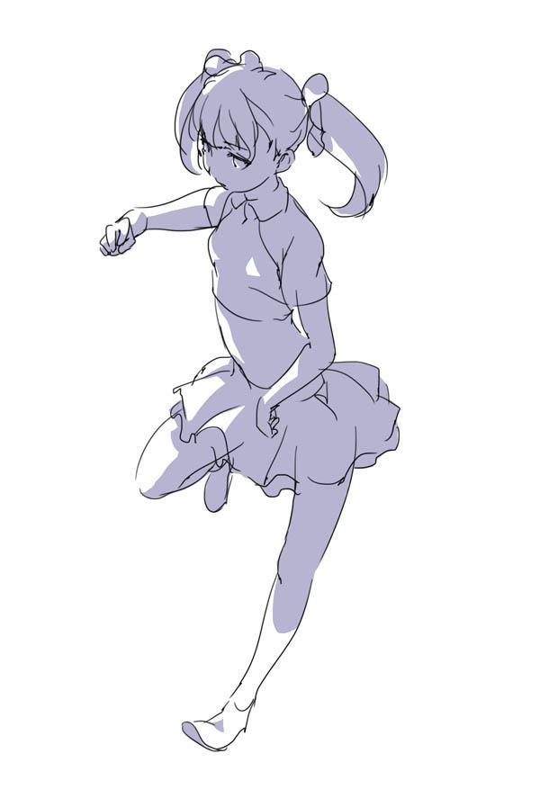 原画插画-日本 人体基础-姿势及体块表现分析 光影参考 412P(4)