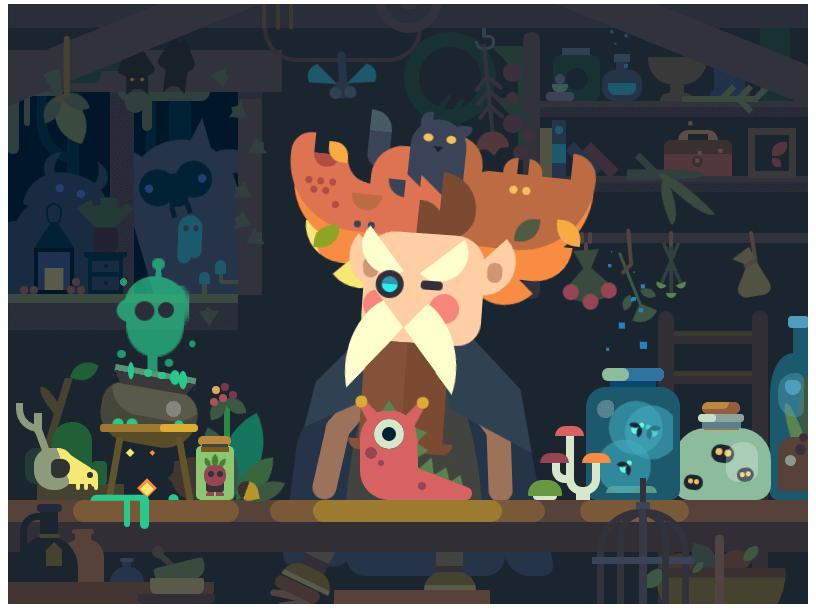 纯CSS制作的一部精彩的动画艺术作品。