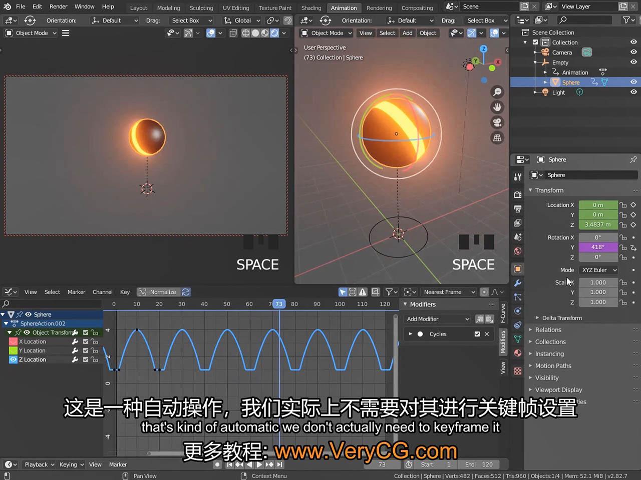战斗机飞行特效场景教程 CGFastTrack - Blender Animation Fundamentals