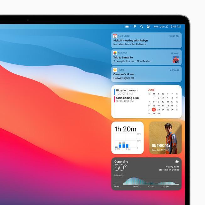 macOS Widgets和通知