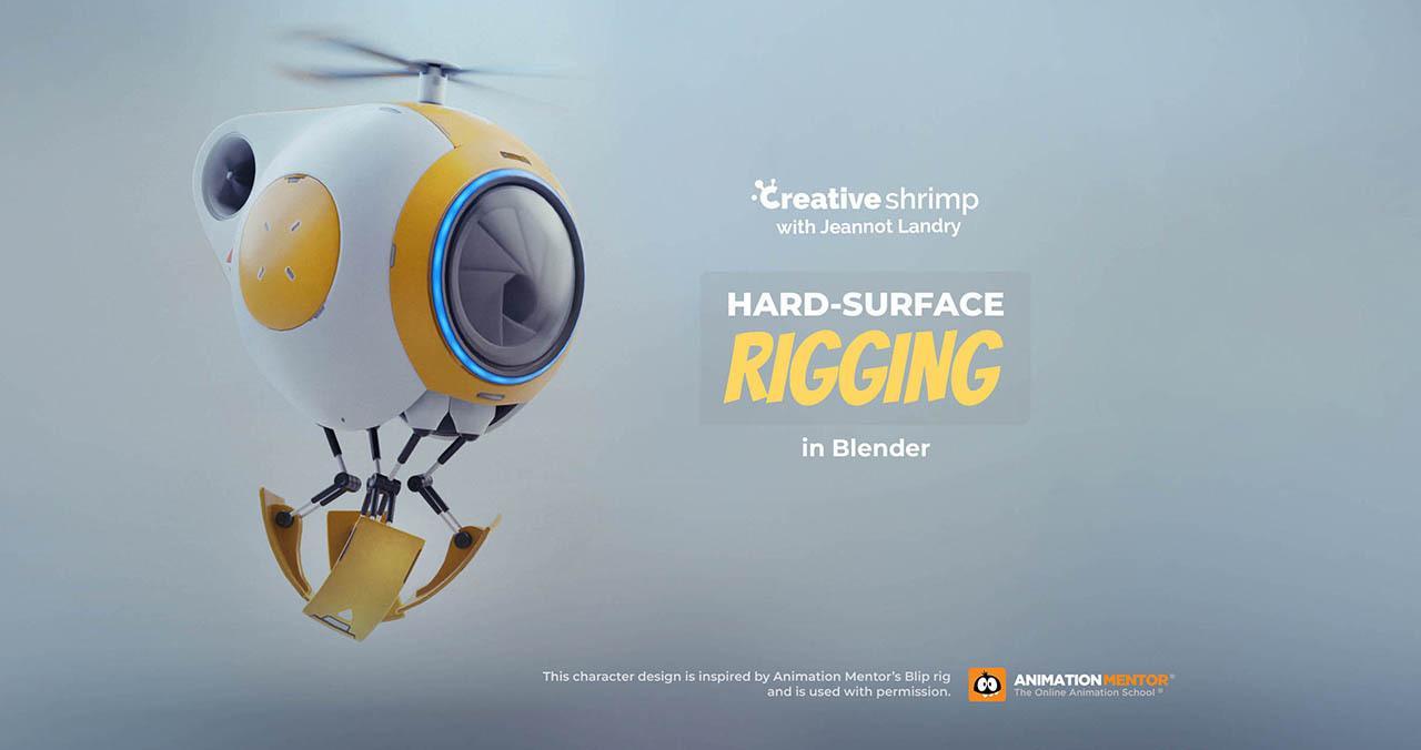 机器人绑定教程 Hard Surface Rigging In Blender