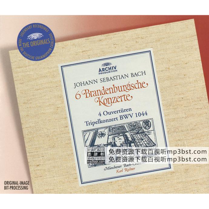 Münchener Bach-Orchester, Karl Richter - 《Bach_ 6 Brandenburg Concertos; 4 Ouvertures; Tripel Concerto BWV 1044》[Hi-Res 96kHz_24bit FLAC]