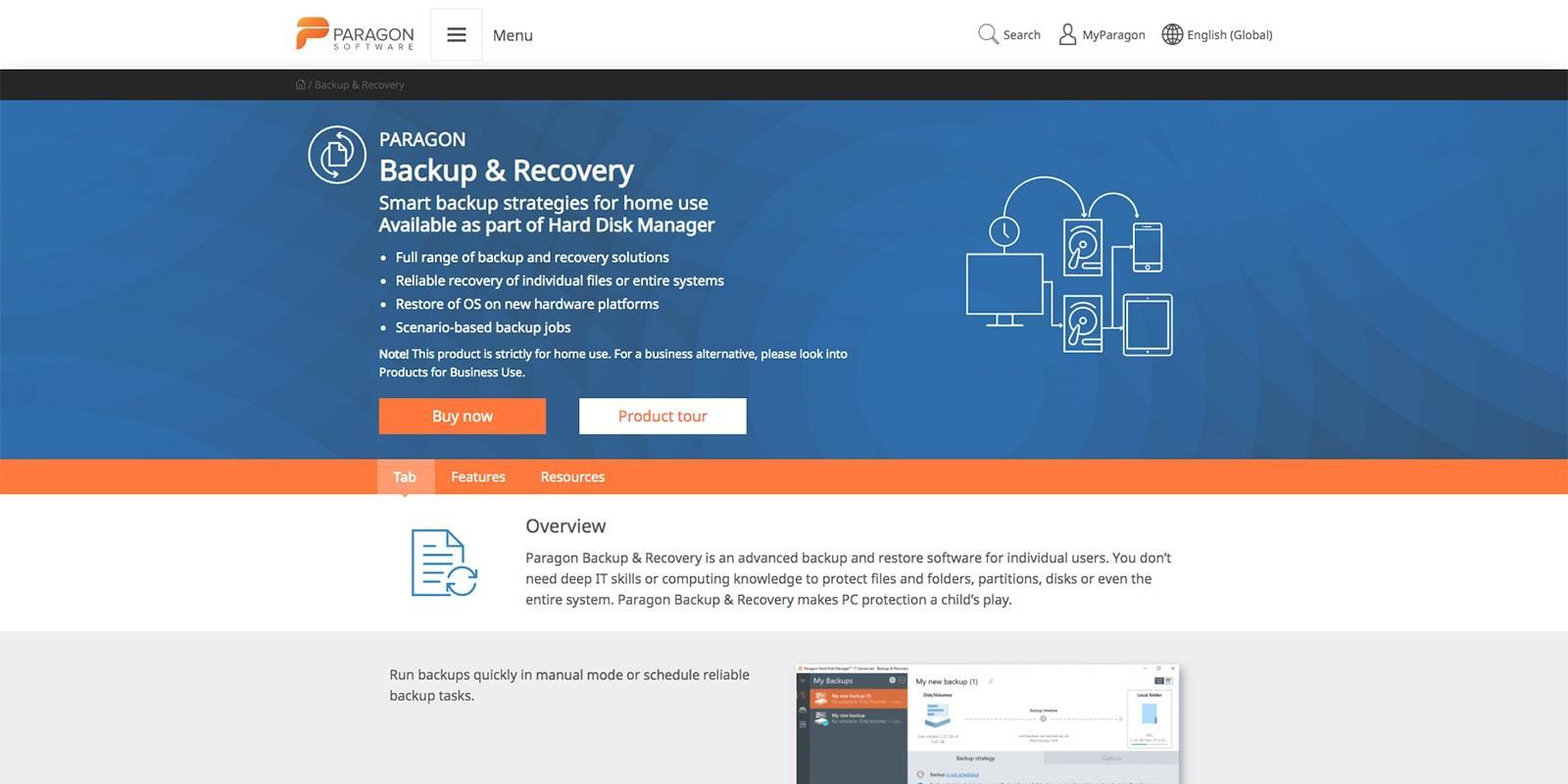 Paragon Backup Recover