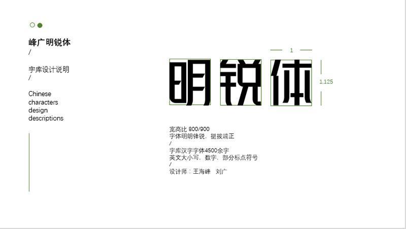 【峰广明锐体】免费商用字体,心光工作室出品-马克喵