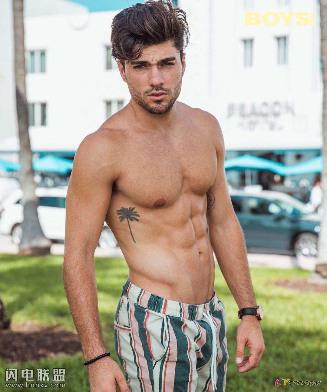 美国肌肉型男人鱼线图片