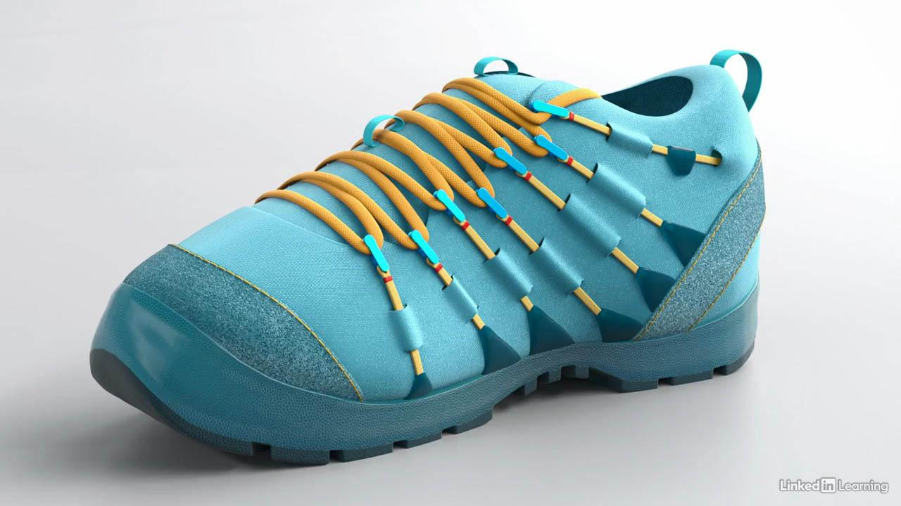 Lynda – Modo Product Visualization Shoe Modeling – Finalizing the forms – Modo产品可视化鞋子建模教程