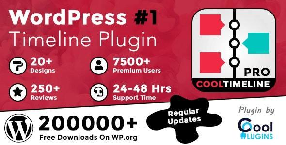 Cool Timeline Pro – 博客文章创建时间轴 wordpress插件(已汉化)