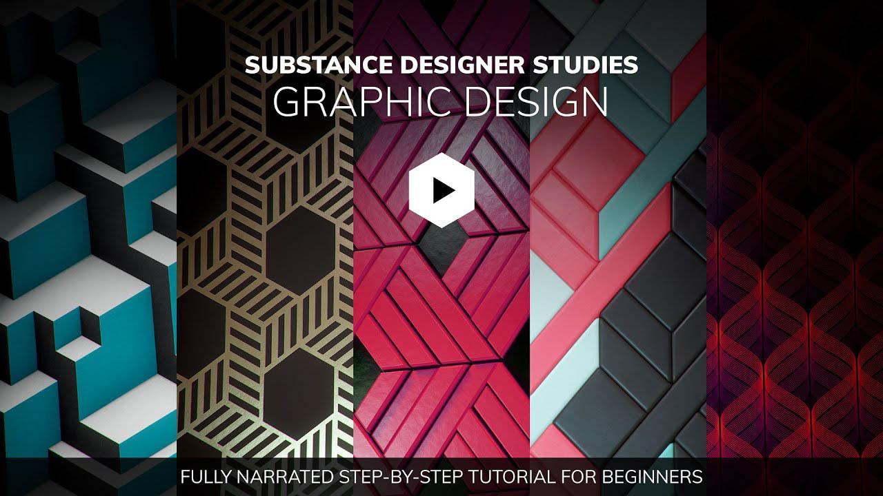Substance Designer重复纹理材质制作教程 Substance Studies Tutorial Graphic Design