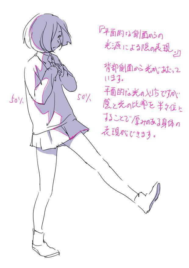原画插画-日本 人体基础-姿势及体块表现分析 光影参考 412P(7)