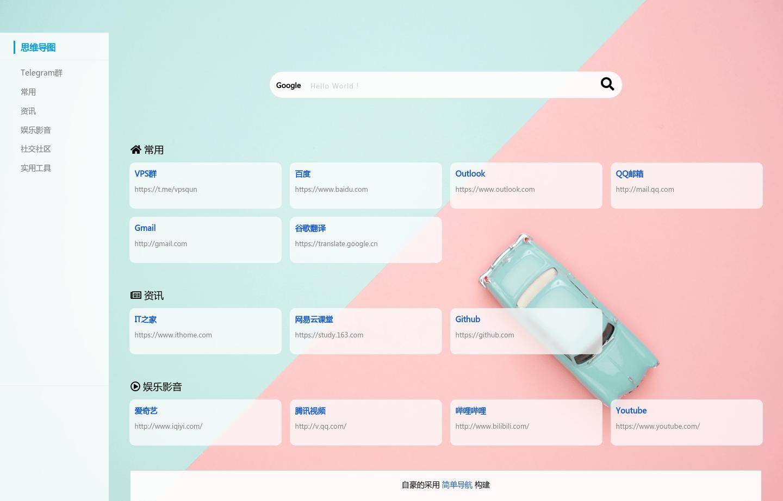 漂亮简洁的PHP导航源码