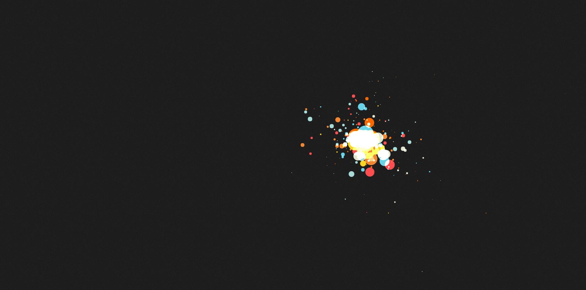 canvas鼠标追随粒子放射效果